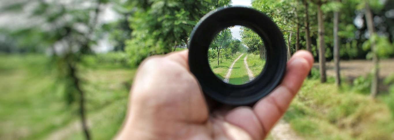 Seeing through lens